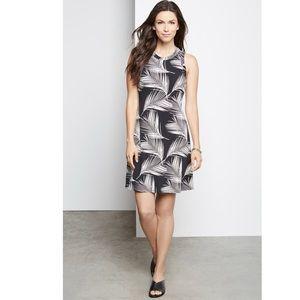 KAREN KANE Palm Floral Print Jersey Shift Dress M
